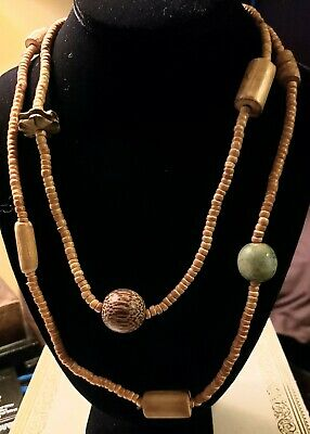 Details about  /Africa Bead Necklace 24 In