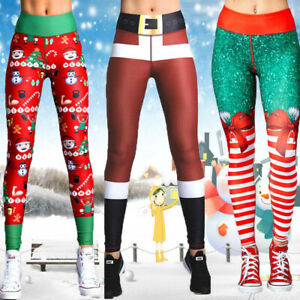 Women-Christmas-Yoga-Pants-Stretchy-Legging-Running-Sports-Gym-Fitness-Trousers