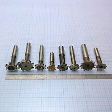 T-Slot Cutter Mill Set (9 pcs: 6 HSS, 2 Carbide) T-Nutfräser Satz (6 HSS; 2 VHM)