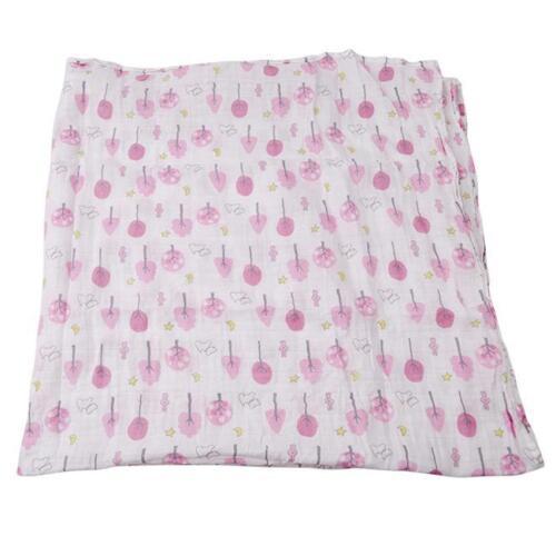 Muslin Organic Cotton Blanket Newborn Infant Swaddle Baby Soft Wrap Towel KV