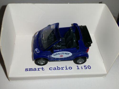 SIKU 1042 Smart Cabrio WERBEMODELL GEROLSTEINER RARITÄT 1:50 NEU