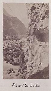 Strada Di Sella Italia? Dolomiti Vintage Stampa Albumina Ca 1880