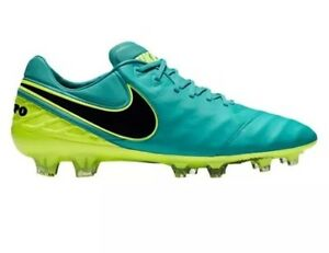 Nike Tempo Legend VI FG Men Soccer Clear Jade/volt/black 819177 307 Sz 12