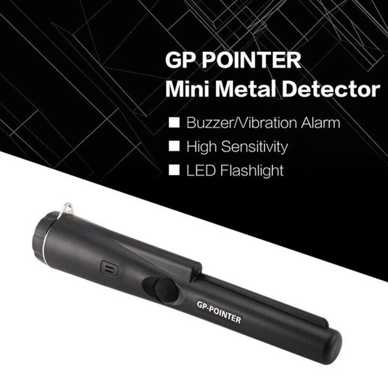 GP-Pointer Probe Metal Gold Detector Vibration Light Alarm Security Pin Poi/_ Gj