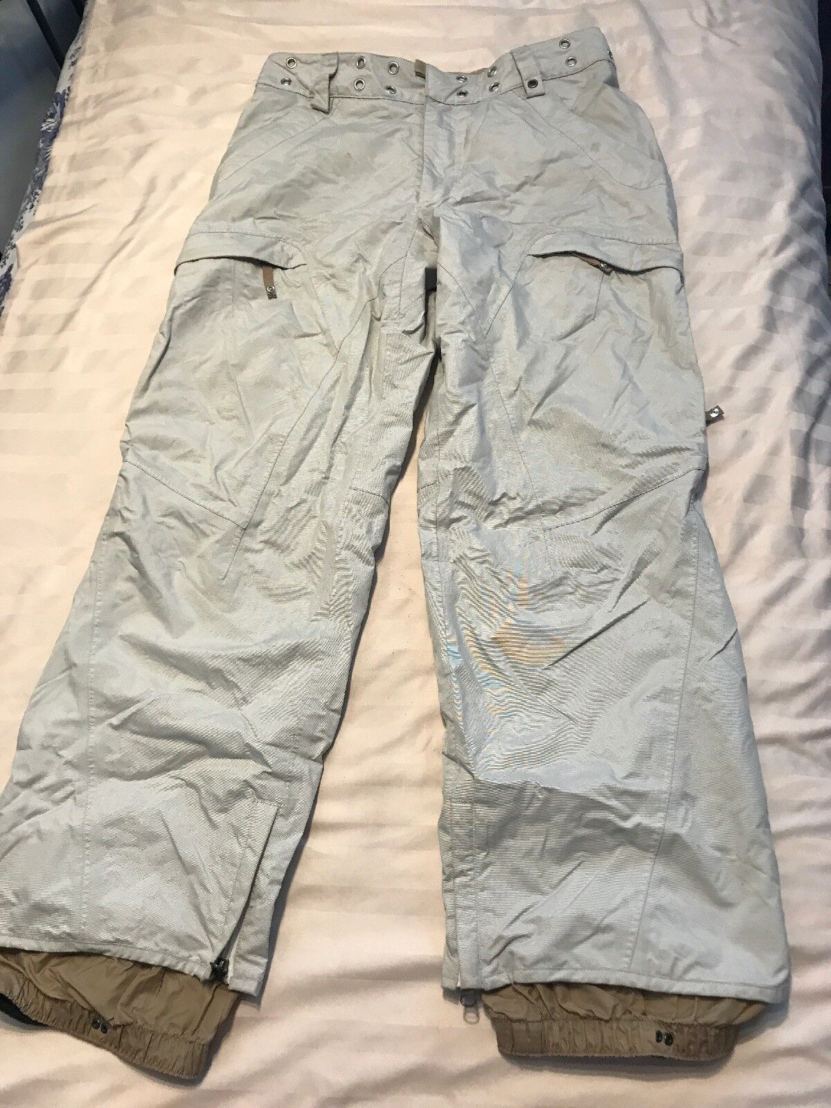 IMPERFECT Burton Snowboard Ski Pants Women's Size  Medium Beige Tan SC8  buy best