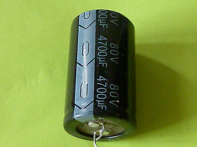 Snap-in Electrolytic Radial Capacitor 80V 4700uF Amplifier Audio 105C 25x50mm