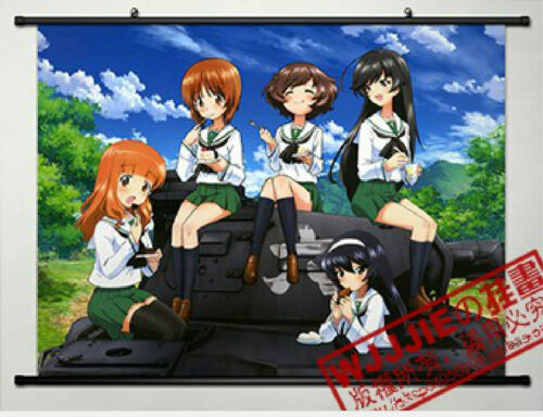 Girls und Panzer Home Decor Anime Japanese Poster Wall Scroll New Whole roles
