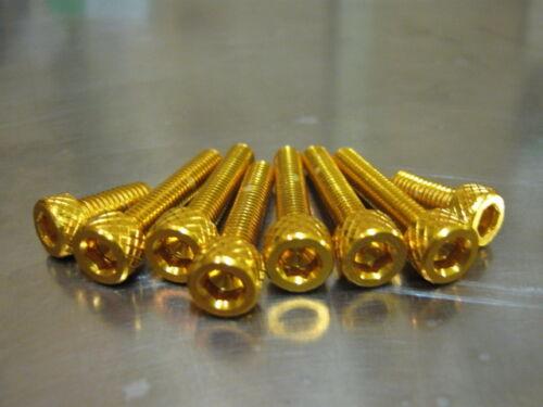 2003-2005 gold eloxiert für Kawasaki ZX 6 Schraubensatz Tankdeckel