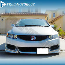 FOR 09-11 HONDA CIVIC COUPE URETHANE FRONT BUMPER LIP SPOILER BODYKIT HFP STYLE