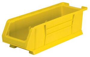 Akro-Mils Super Size AkroBin 7H x 8 1/4W x 23-7/8L Yellow 4 pack