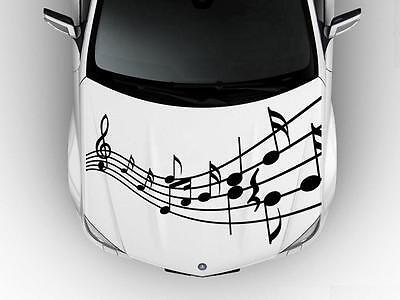 Musical Notes Hood Side Door Car Decal Race Grpahic Art Sticker Truck B11