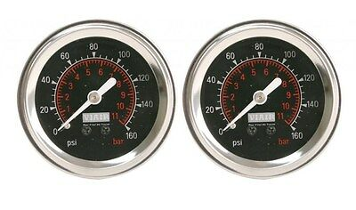 VIAIR (2) 90082 Dual Needle 160 Psi Max Air Gauges Air Ride suspension Bags