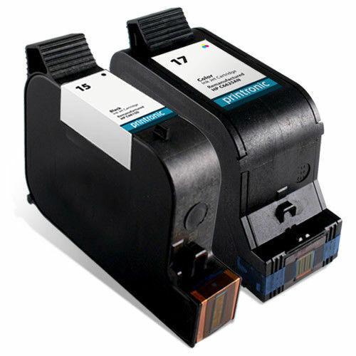 2 Pack HP 15 17 Ink Cartridge for Deskjet 825 840 841 842 843 845 Inkjet Printer