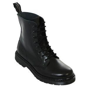 Boots-amp-Braces-easy-8-Loch-monochrom-TR-Black-on-Black-Stiefel-Rangers-Schwarz