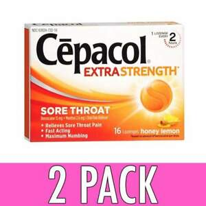 Cepacol Sore Throat Lozenges Honey Lemon 16ct 363824730165j241