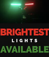 "Bow LED 12"" Submersible Red Green Navigation Light Waterproof Marine Boat 1' 12v"