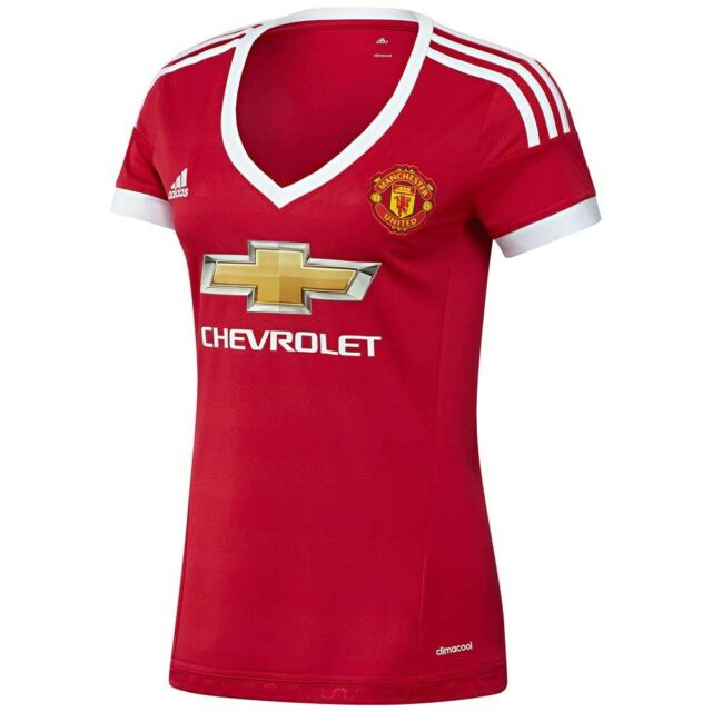 nwt~Adidas MANCHESTER UNITED Soccer Jersey CLIMACOOL Football Shirt~WOMEN  size M 2ae2a4f9ec