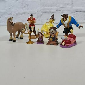 Disney Store Beauty And The Beast Figure Set Belle Gaston LUMIERE Cogsworth