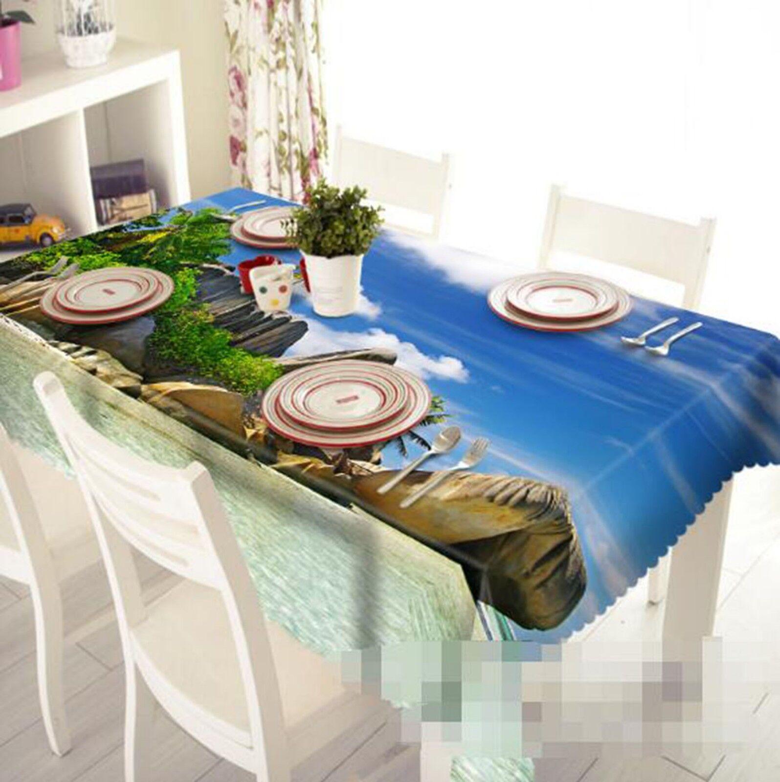 3D Beach Stone Sky 3 Tablecloth Table Cover Cloth Birthday Party Event AJ Lemon