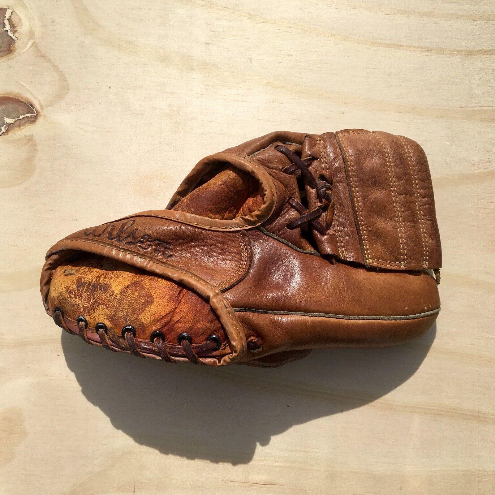 Wilson  Billy  Martin firma de cuero guante de béisbol-Vintage Coleccionables