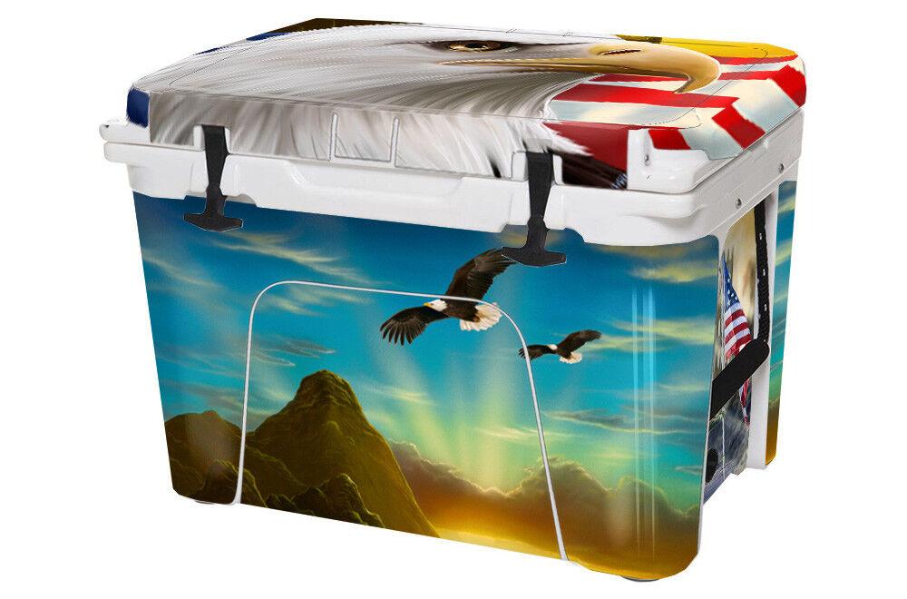 USATuff Cooler Sticker Wrap passt zu YETI Tundra 75qt FULL Majestic Eagle USA