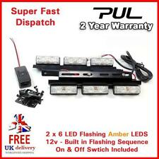 LED LIGHT BAR AMBER FLASHING STROBE GRILL SET RECOVERY VEHICLES BREAKDOWN SAFETY