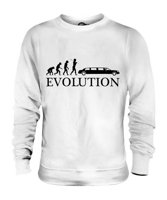LIMO EVOLUTION OF MAN UNISEX SWEATER  TOP GIFT DRIVER STRETCH
