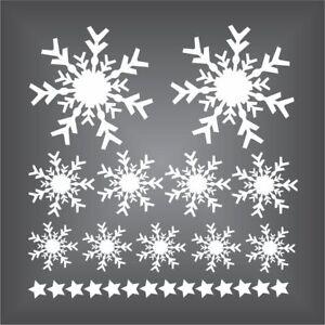 25-x-Fensteraufkleber-Schneeflocken-Sterne-Eiskristalle-Weihnachten-Sticker