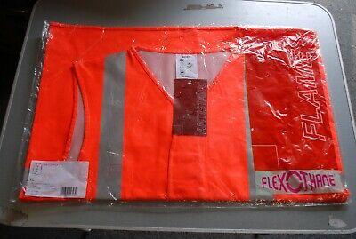 "Sioen Flexothane Hi Vis Antistatic Fire Retardant Orange Vest L 48/"" chest"
