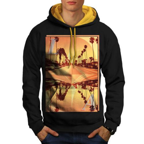 con Los Black Felpa cappuccio uomo cappuccio City oro Angeles Contrast da Holiday dxxp4qX