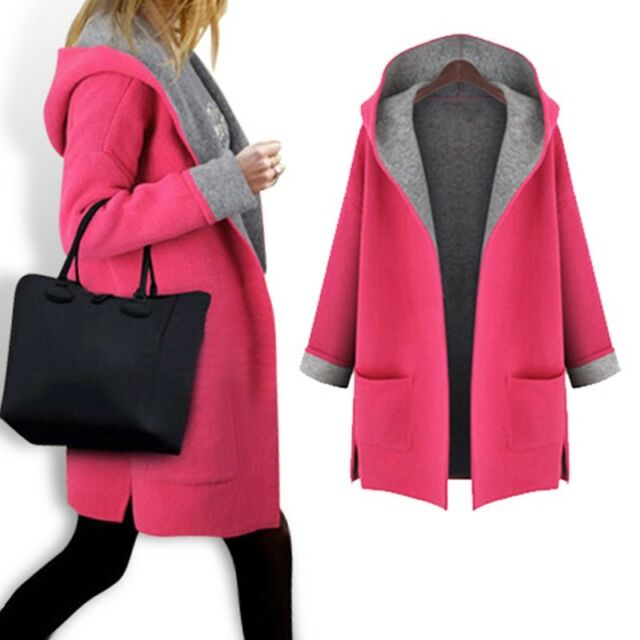 Women Vogue Autumn Winter Warm Long Sleeve Hooded Coat Jacket Cardigan Outerwear