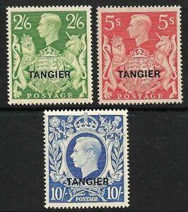TANGIER-KGVI-2-6-5-amp-10-Overprints-MINT-HINGED-SG-273-75-CV-85