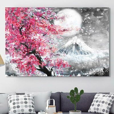 Best images about CHERRY Blossom //decor wall cloth high quality Canvas print art