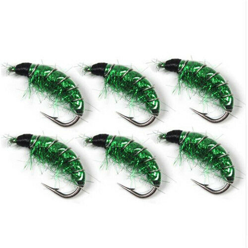 10PCS//Lot  #6 Trout Fishing Flies Scud Shrimps Scud Cezch Fly Fishing Fly Nymphs