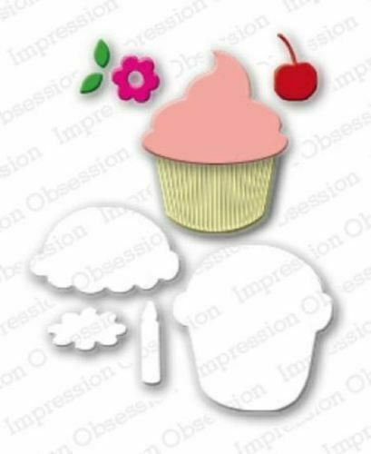 CUPCAKE SET DIE-Impression Obsession 113Q suitable for most die cutters
