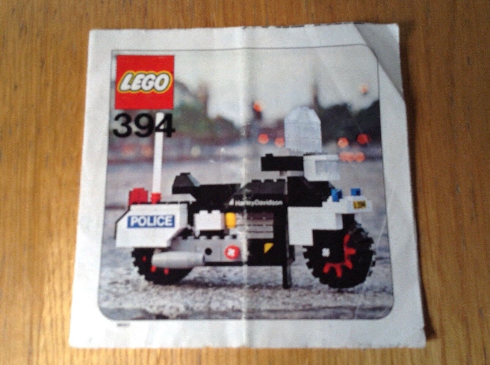 Lego Hobby Set 394 Harley-Davidson from 1976 - instructions only - free postage