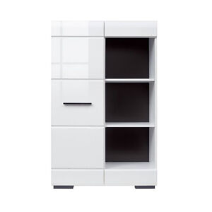 High Gloss White Storage Cabinet New Cupboard Living