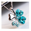 Collana-Donna-Quadrifoglio-Cristallo-Charms-Swarovski-Portafortuna-Regalo-Top miniature 18