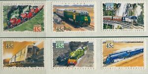 Australia-1993-SG1411-1416-Trains-diecut-set-MNH