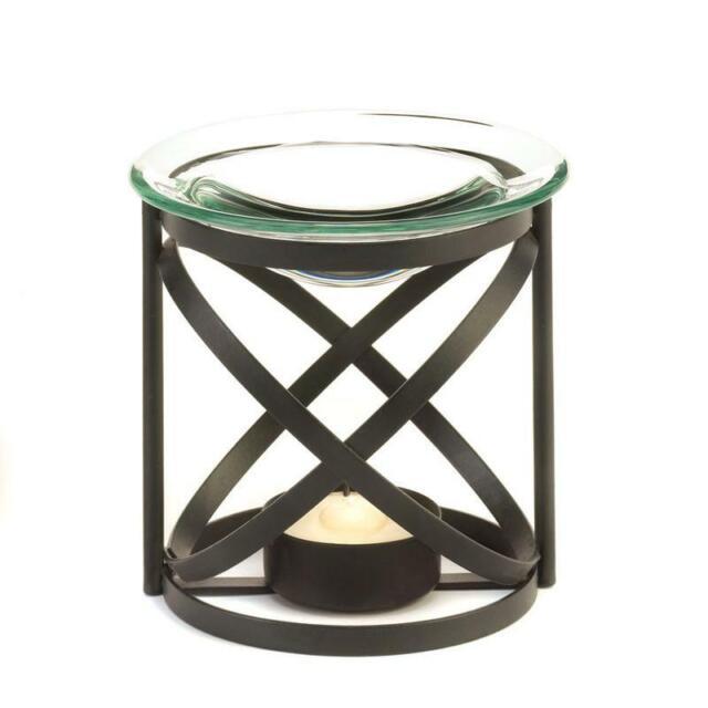 Enchanting Vine Glass Candle Holder Tart Wax Melt Oil Warmer Burner Floral Z For Sale Online Ebay