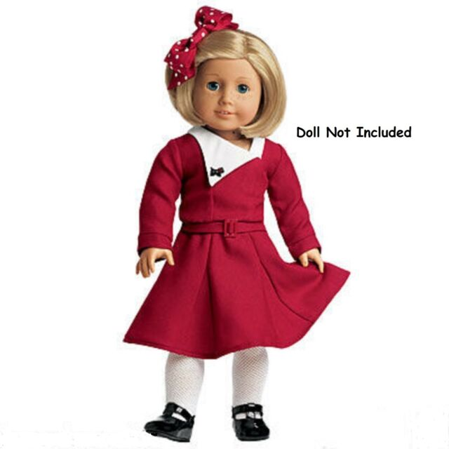American Girl Kit's Holiday Dress Outfit for Dolls Christmas Red Ruthie - American Girl Kit's Holiday Dress Outfit For Dolls Christmas Red