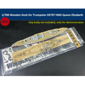 1//700 Scale Wooden Deck for Trumpeter 06718 HMS Rodney Model Ship TMW00107