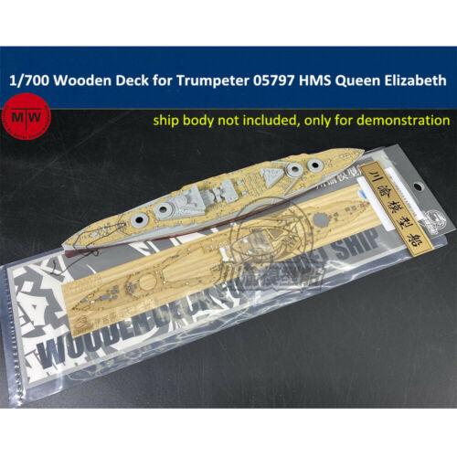 1//700 Scale Wooden Deck for Trumpeter 05797 HMS Queen Elizabeth 1918 Model Ship