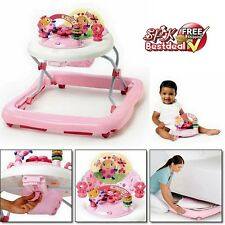06c1cb4f5cbb Pink Activity Walker Baby Bouncer Adjustable Seat Girls Learning Toy ...