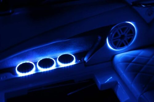 """2pc LED Speaker Rings for JL Audio Marine 8.8/"""" M880 Ready to install"""