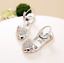 Girls Baby Party Dress Kid Summer Flat Heels Shoes Sequins Heart Princess Shoes