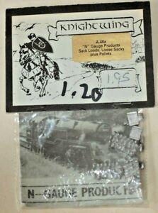 N-Gauge-Metal-Kit-Knightwing-Sack-Loads-Loose-Sacks-Plus-Pallets-A46a