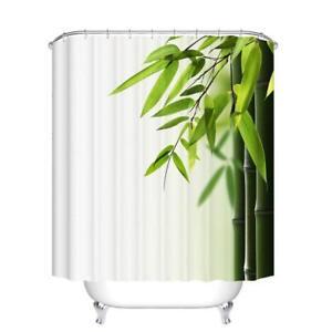 Image Is Loading Portable Bathroom Shower Curtain Waterproof Bamboo Printed