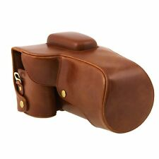 PU Leather Camera Case Bag for Canon EOS 6D + 24-105mm lens Digital Cameras