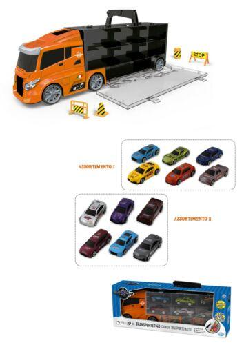 ODS 41401 SilverWheel Camion Valigetta con 3 Auto in metallo e segnali stradali